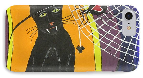Black Cat In A Hat  IPhone Case by Jeffrey Koss