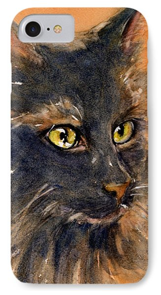 Black Cat IPhone Case by Judith Levins