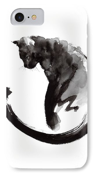 Cat iPhone 7 Case - Black Cat by Mariusz Szmerdt