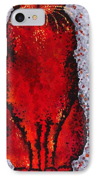 Black Cat Red Phone Case by Michelle Boudreaux