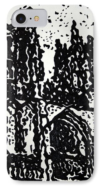 Black Cathedral  Phone Case by Oscar Penalber