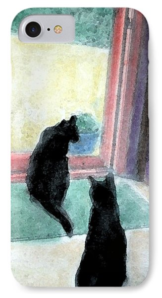 Black Cats Phone Case by Art by Kar
