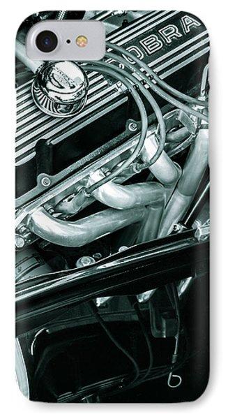 Black Cobra - Ford Cobra Engines IPhone Case by Steven Milner