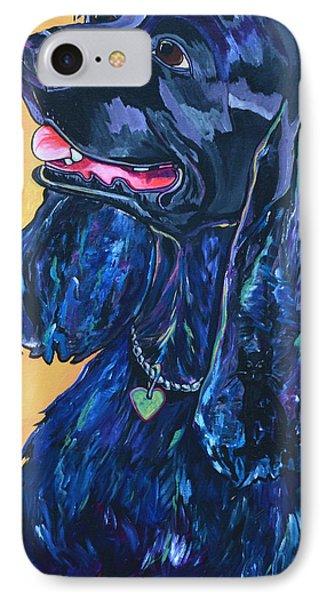Black Cocker Spaniel Phone Case by Patti Schermerhorn