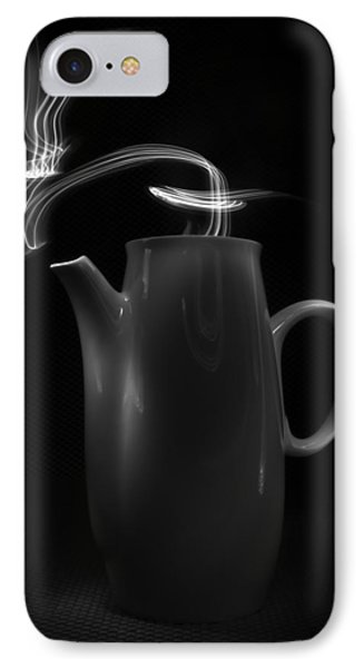 IPhone Case featuring the photograph Black Coffee Pot - Light Painting by Steven Milner