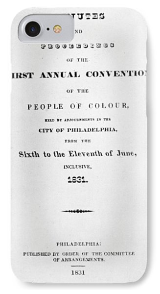 Black Convention, 1831 IPhone Case by Granger
