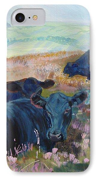 Black Cows On Dartmoor IPhone Case