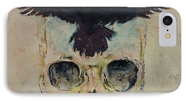 Black Crow IPhone 7 Case by Michael Creese