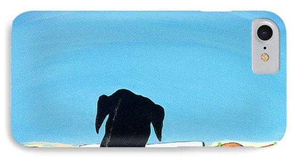 Black Dog In Chestertown, 1998 IPhone Case