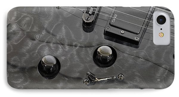 Black Guitar IPhone Case