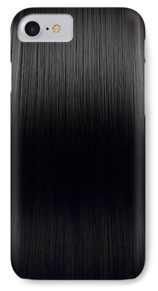 Black Hair Perfect Straight IPhone Case by Allan Swart