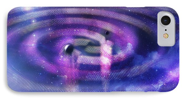 Black Hole Merger And Gravitational Waves IPhone Case