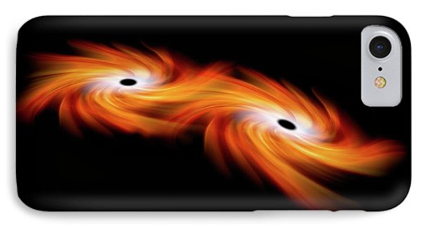 Black Holes Merging In Space IPhone Case
