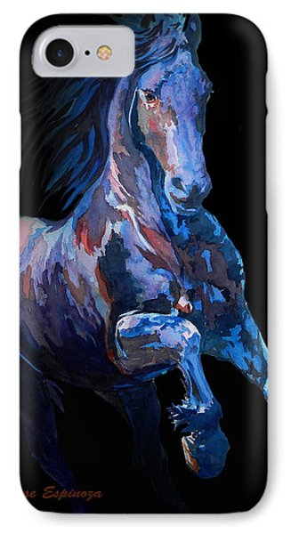 Black Horse In Black IPhone Case