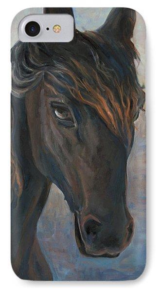 Black Horse Phone Case by Marco Busoni