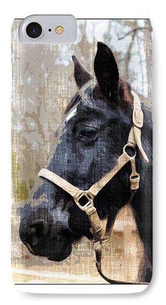 Black Horse Phone Case by Susan Leggett