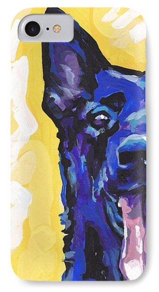 Black Is Black IPhone Case by Lea S