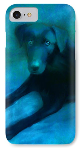 Black Lab IPhone Case by Ann Powell