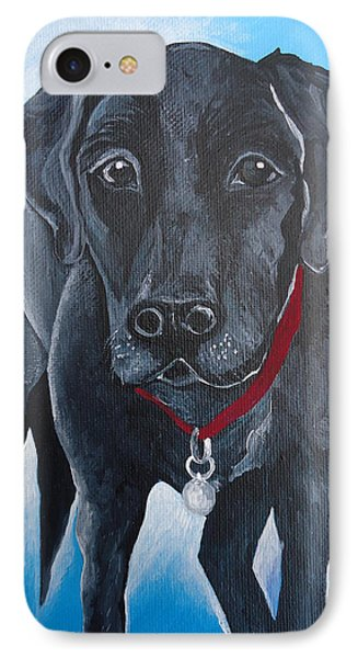 Black Lab IPhone Case by Leslie Manley