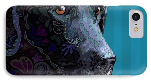 Black Lab Squared IPhone Case by Sharon Marcella Marston