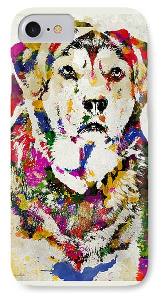 Black Lab Watercolor Art Phone Case by Christina Rollo