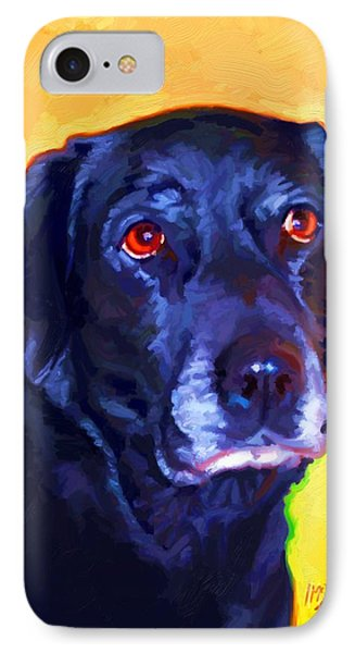 Black Labrador Art Phone Case by Iain McDonald
