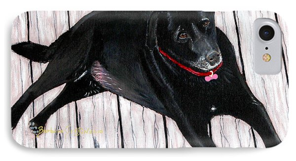Black Labrador  IPhone Case