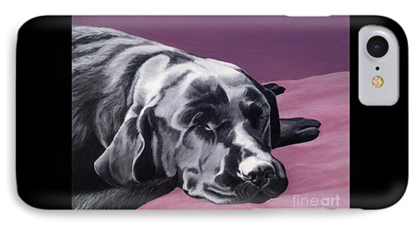 Black Labrador Beauty Sleep Phone Case by Amy Reges