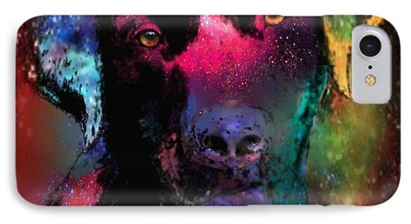 Black Labrador Dog Phone Case by Marlene Watson