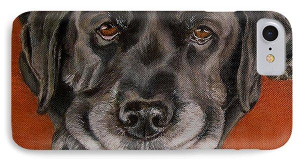 Black Labrador Rests Head Rescue Dog IPhone Case