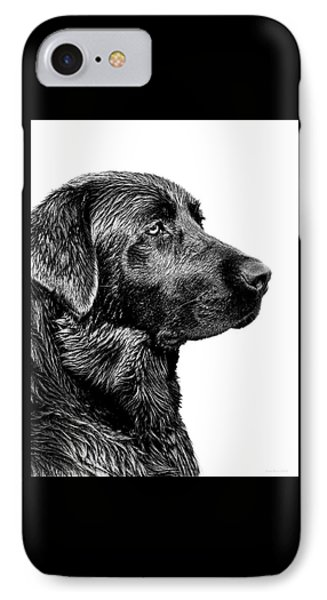 Black Labrador Retriever Dog Monochrome IPhone 7 Case