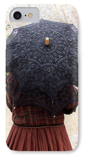 Black Lace Parasol IPhone Case by Kae Cheatham