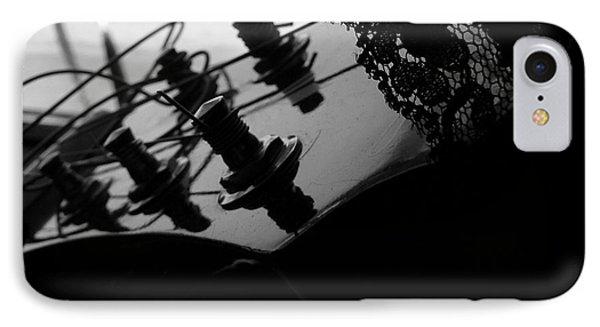 Black Lace Valentine Phone Case by Barbara St Jean