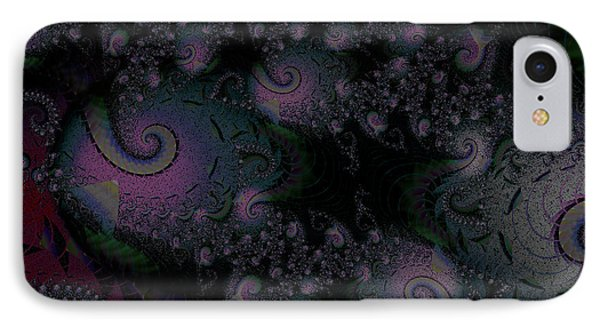 IPhone Case featuring the digital art Black Light Reveal by Elizabeth McTaggart