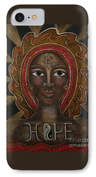 IPhone Case featuring the painting Black Madonna - Hope by Deborha Kerr