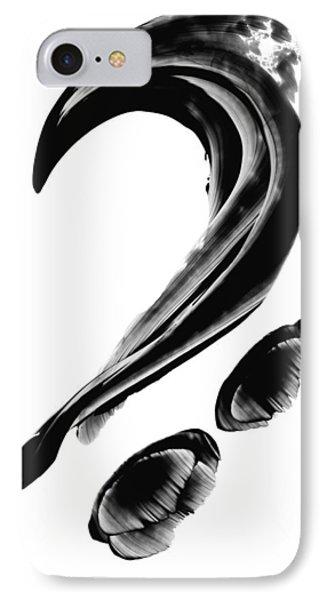 Black Magic 300 - Black And White Art Phone Case by Sharon Cummings