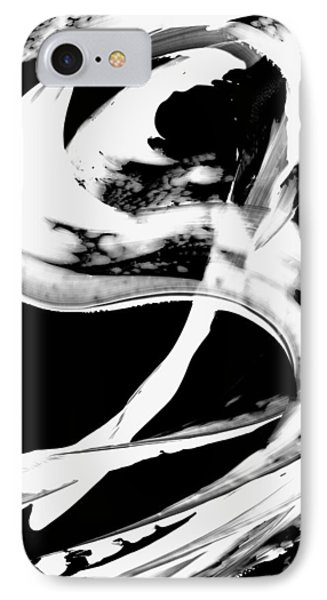 IPhone Case featuring the painting Black Magic 307 Inverted by Sharon Cummings