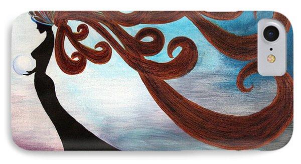 IPhone Case featuring the painting Black Magic Woman by Jolanta Anna Karolska