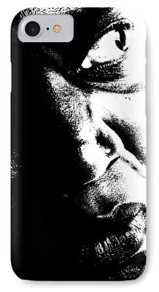 Black Miracle Portrait 12 IPhone Case by Cleaster Cotton