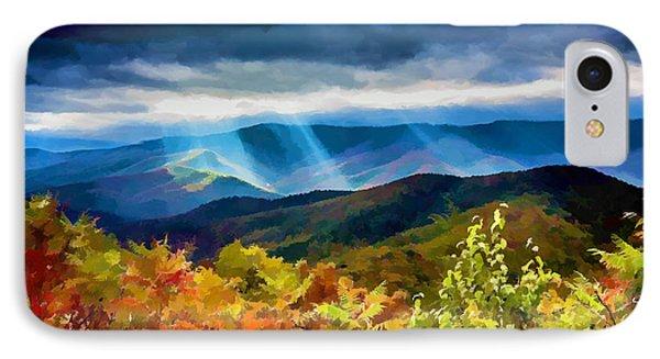 Black Mountains Overlook On The Blue Ridge Parkway IPhone Case by John Haldane