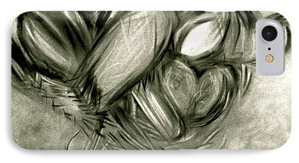 Black N' White-hearts Soar-thinking Of You Phone Case by Juliann Sweet