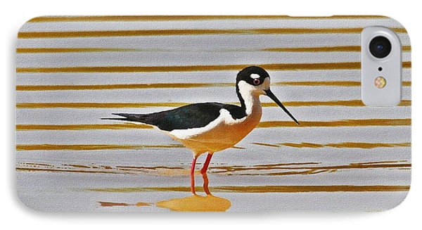 IPhone Case featuring the photograph Black Neck Stilt Standing by Tom Janca