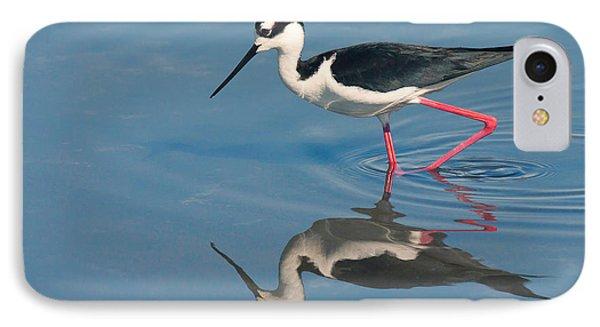 IPhone Case featuring the photograph Black-necked Stilt - Huntington Beach California by Ram Vasudev