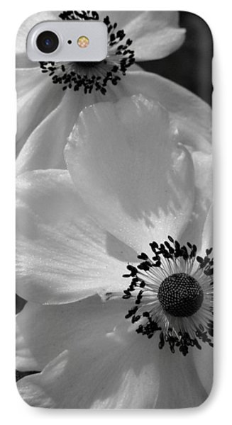 Black On White IPhone Case by Cheryl Hoyle