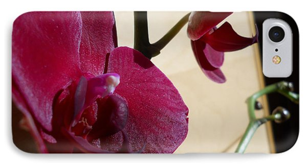 IPhone Case featuring the photograph Black Orchid by Ramona Matei
