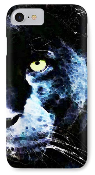 Black Panther Art - After Midnight Phone Case by Sharon Cummings
