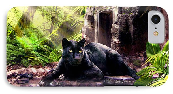 Black Panther Custodian Of Ancient Temple Ruins  IPhone 7 Case by Regina Femrite