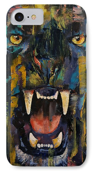 Black Panther IPhone Case by Michael Creese