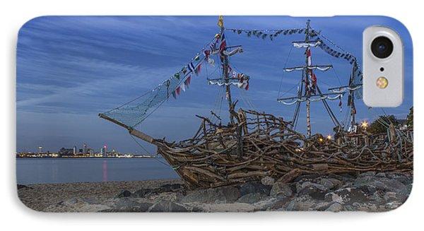 Black Pearl Pirate Ship IPhone Case