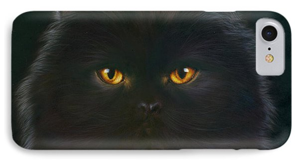 Black Persian IPhone Case by Andrew Farley